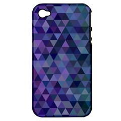 Triangle Tile Mosaic Pattern Apple Iphone 4/4s Hardshell Case (pc+silicone)