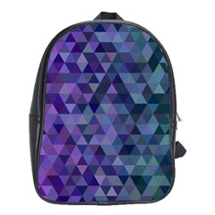 Triangle Tile Mosaic Pattern School Bag (xl)