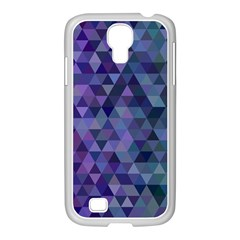 Triangle Tile Mosaic Pattern Samsung Galaxy S4 I9500/ I9505 Case (white)