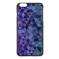 Triangle Tile Mosaic Pattern Apple Iphone 6 Plus/6s Plus Black Enamel Case by Nexatart