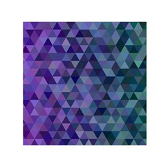Triangle Tile Mosaic Pattern Small Satin Scarf (square)