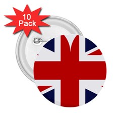 Uk Flag United Kingdom 2 25  Buttons (10 Pack)  by Nexatart