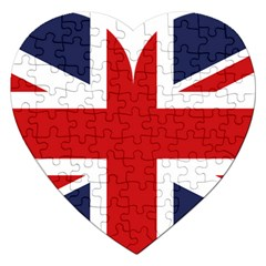 Uk Flag United Kingdom Jigsaw Puzzle (heart) by Nexatart
