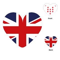 Uk Flag United Kingdom Playing Cards (heart)  by Nexatart