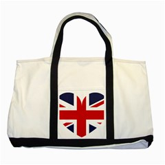 Uk Flag United Kingdom Two Tone Tote Bag