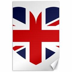 Uk Flag United Kingdom Canvas 24  X 36