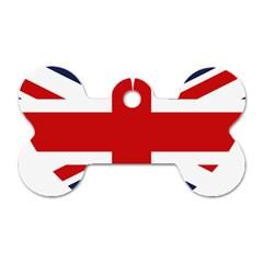 Uk Flag United Kingdom Dog Tag Bone (one Side) by Nexatart