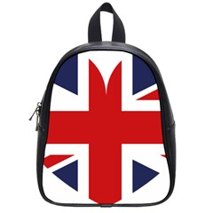 Uk Flag United Kingdom School Bag (small) by Nexatart