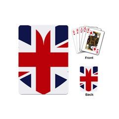 Uk Flag United Kingdom Playing Cards (mini)