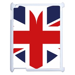 Uk Flag United Kingdom Apple Ipad 2 Case (white) by Nexatart