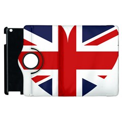 Uk Flag United Kingdom Apple Ipad 2 Flip 360 Case by Nexatart