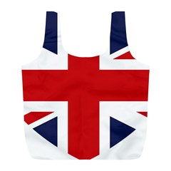 Uk Flag United Kingdom Full Print Recycle Bags (l)  by Nexatart