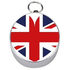 Uk Flag United Kingdom Silver Compasses