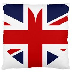 Uk Flag United Kingdom Standard Flano Cushion Case (one Side) by Nexatart