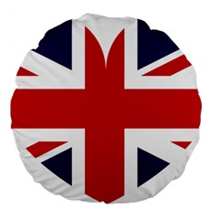 Uk Flag United Kingdom Large 18  Premium Flano Round Cushions by Nexatart