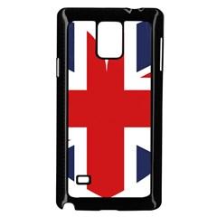 Uk Flag United Kingdom Samsung Galaxy Note 4 Case (black) by Nexatart