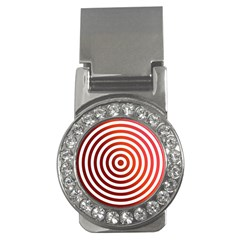 Concentric Red Rings Background Money Clips (cz)  by Nexatart