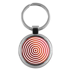 Concentric Red Rings Background Key Chains (round)  by Nexatart