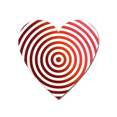 Concentric Red Rings Background Heart Magnet by Nexatart