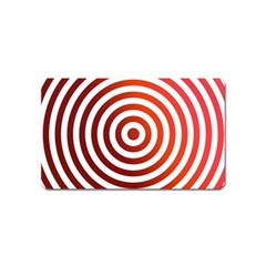 Concentric Red Rings Background Magnet (name Card)