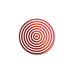Concentric Red Rings Background Golf Ball Marker (10 Pack) by Nexatart