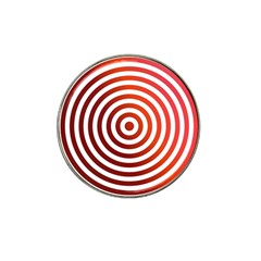 Concentric Red Rings Background Hat Clip Ball Marker (4 Pack) by Nexatart