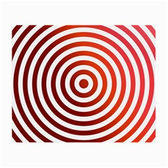 Concentric Red Rings Background Small Glasses Cloth