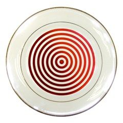 Concentric Red Rings Background Porcelain Plates by Nexatart