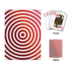 Concentric Red Rings Background Playing Card by Nexatart