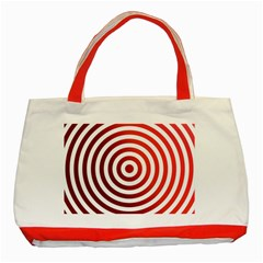 Concentric Red Rings Background Classic Tote Bag (red)