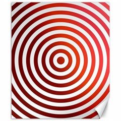 Concentric Red Rings Background Canvas 8  X 10
