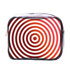Concentric Red Rings Background Mini Toiletries Bags