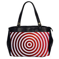 Concentric Red Rings Background Office Handbags