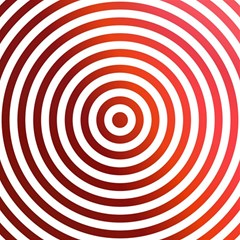 Concentric Red Rings Background Magic Photo Cubes
