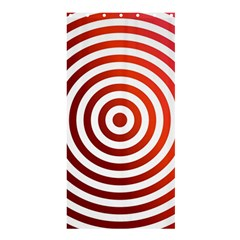 Concentric Red Rings Background Shower Curtain 36  X 72  (stall)  by Nexatart