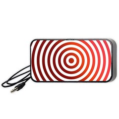 Concentric Red Rings Background Portable Speaker (black)