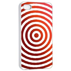 Concentric Red Rings Background Apple Iphone 4/4s Seamless Case (white)