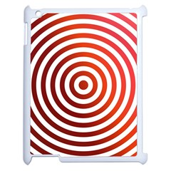 Concentric Red Rings Background Apple Ipad 2 Case (white)