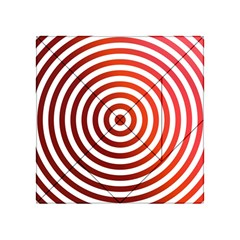 Concentric Red Rings Background Acrylic Tangram Puzzle (4  X 4 )