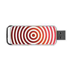 Concentric Red Rings Background Portable Usb Flash (two Sides) by Nexatart