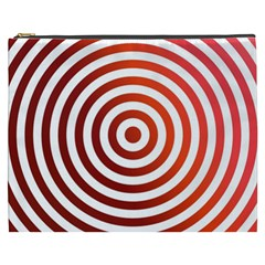 Concentric Red Rings Background Cosmetic Bag (xxxl)  by Nexatart
