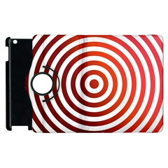 Concentric Red Rings Background Apple Ipad 3/4 Flip 360 Case by Nexatart
