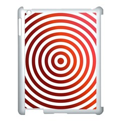 Concentric Red Rings Background Apple Ipad 3/4 Case (white) by Nexatart