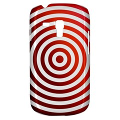 Concentric Red Rings Background Galaxy S3 Mini