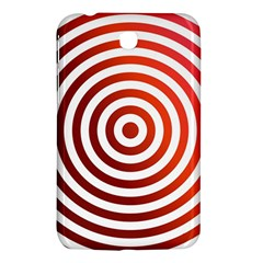 Concentric Red Rings Background Samsung Galaxy Tab 3 (7 ) P3200 Hardshell Case  by Nexatart