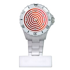 Concentric Red Rings Background Plastic Nurses Watch