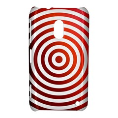 Concentric Red Rings Background Nokia Lumia 620 by Nexatart