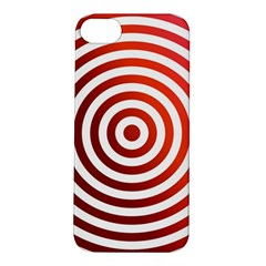 Concentric Red Rings Background Apple Iphone 5s/ Se Hardshell Case
