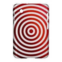 Concentric Red Rings Background Samsung Galaxy Tab 2 (7 ) P3100 Hardshell Case