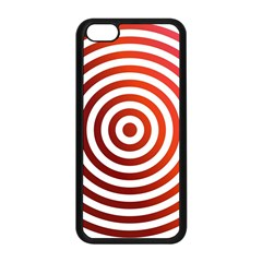 Concentric Red Rings Background Apple Iphone 5c Seamless Case (black) by Nexatart